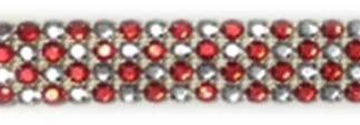 4 row alt RED rhinestone banding-0