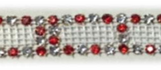 4 row alt RED cutout rhinestone banding-0