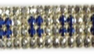 4 row ROYAL square rhinestone banding-0