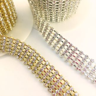 5 row crystal chain