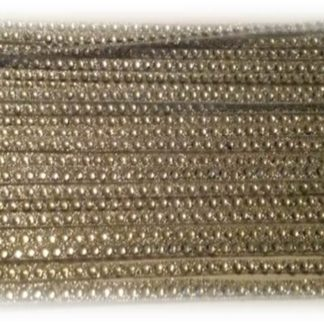 1 row silver diamante ribbon