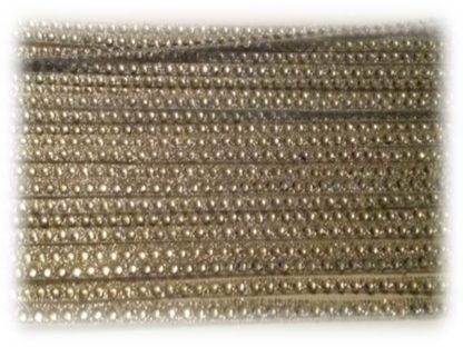 1 row silver diamante ribbon