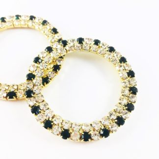 2 row alt outer EMERALD rings 50mm-0