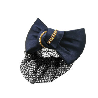 navy bow snood