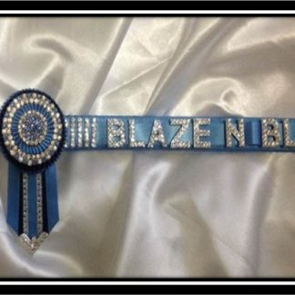 Bling Name Browband with Rosettes-0