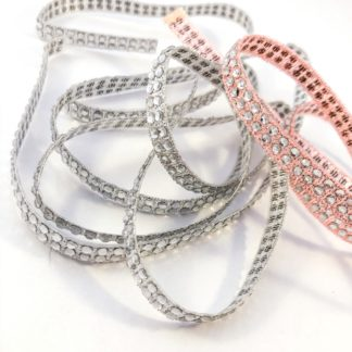 2 row diamante ribbon