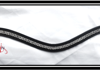 "Leather Crystal Wave browband - WB 17""-0"