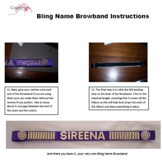 DIY browband instructions