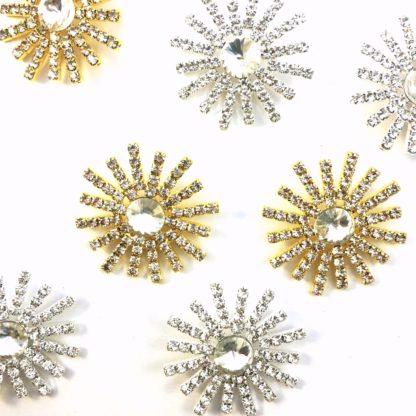 DIY browband crystal centres